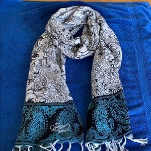 True Religion soft fringe scarf